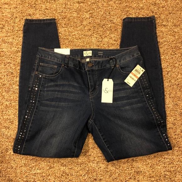 Style & Co Denim - Style & Co. Studded Skinny Jeans